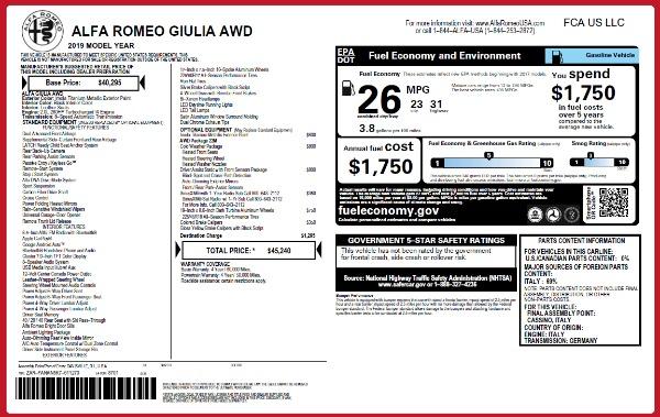 New 2019 Alfa Romeo Giulia Q4 for sale Sold at Alfa Romeo of Westport in Westport CT 06880 21