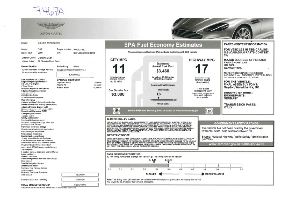 Used 2009 Aston Martin DBS Coupe for sale Sold at Alfa Romeo of Westport in Westport CT 06880 26