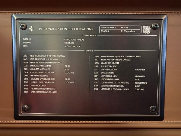 Used 2018 Ferrari 812 Superfast for sale $335,900 at Alfa Romeo of Westport in Westport CT 06880 22