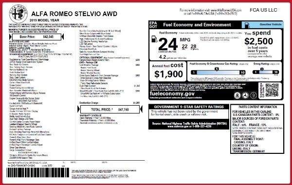 New 2019 Alfa Romeo Stelvio Q4 for sale Sold at Alfa Romeo of Westport in Westport CT 06880 2