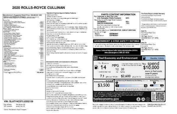 New 2020 Rolls-Royce Cullinan for sale $383,500 at Alfa Romeo of Westport in Westport CT 06880 11