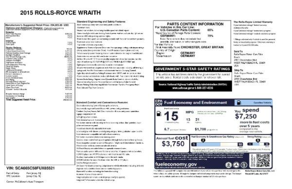 Used 2015 Rolls-Royce Wraith for sale $169,900 at Alfa Romeo of Westport in Westport CT 06880 28
