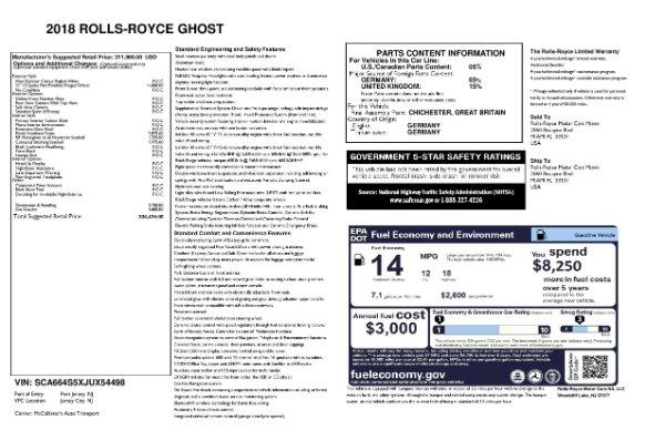 Used 2018 Rolls-Royce Ghost for sale $247,900 at Alfa Romeo of Westport in Westport CT 06880 23