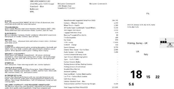 Used 2018 McLaren 720S Luxury for sale Sold at Alfa Romeo of Westport in Westport CT 06880 26