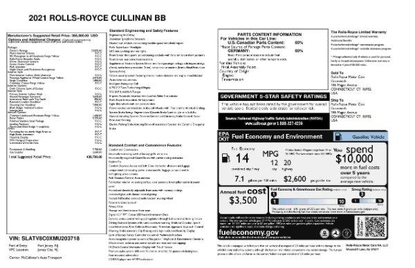 New 2021 Rolls-Royce Cullinan Black Badge for sale $439,700 at Alfa Romeo of Westport in Westport CT 06880 11