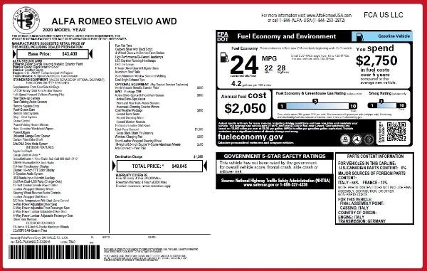 New 2020 Alfa Romeo Stelvio Q4 for sale Sold at Alfa Romeo of Westport in Westport CT 06880 2