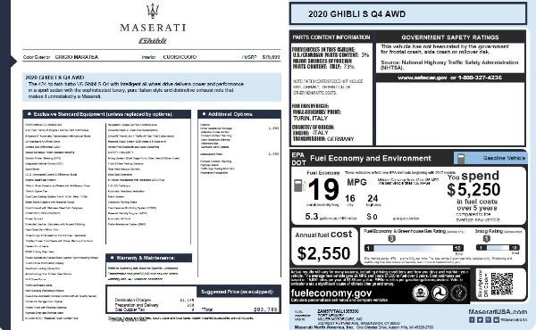 New 2020 Maserati Ghibli S Q4 for sale Call for price at Alfa Romeo of Westport in Westport CT 06880 28