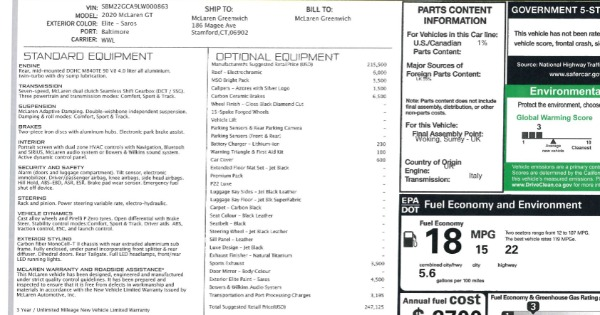 New 2020 McLaren GT Luxe for sale $247,125 at Alfa Romeo of Westport in Westport CT 06880 22