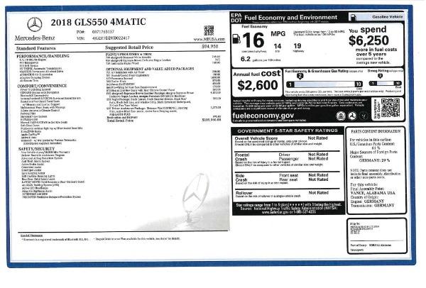 Used 2018 Mercedes-Benz GLS 550 for sale $67,900 at Alfa Romeo of Westport in Westport CT 06880 27