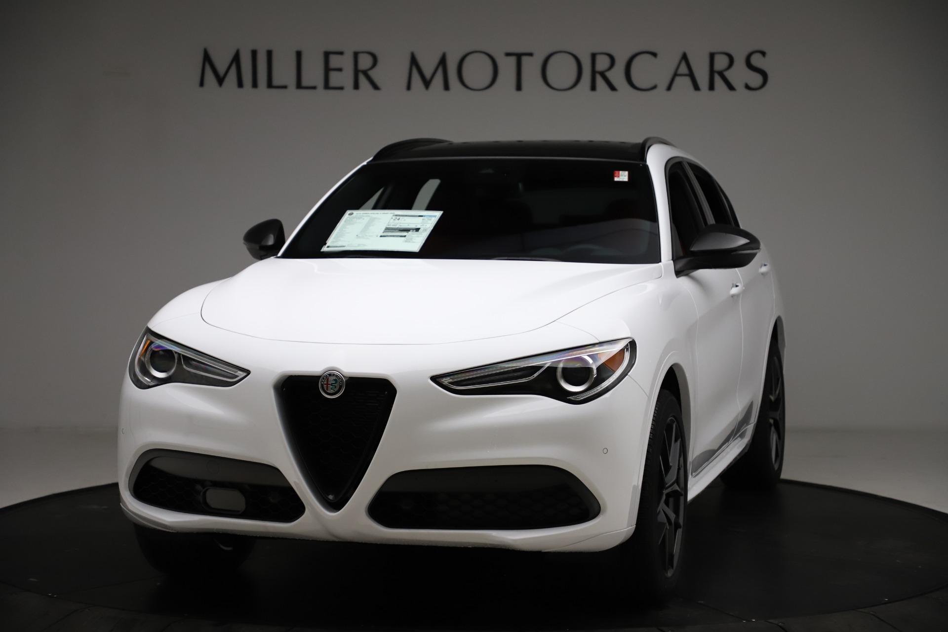 New 2021 Alfa Romeo Stelvio Ti Sport Q4 for sale $55,490 at Alfa Romeo of Westport in Westport CT 06880 1