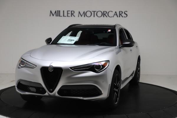 New 2021 Alfa Romeo Stelvio Ti Sport Q4 for sale $56,090 at Alfa Romeo of Westport in Westport CT 06880 1