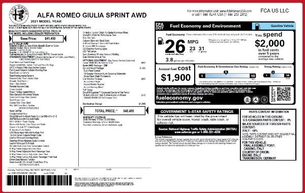 New 2021 Alfa Romeo Giulia Q4 for sale $46,490 at Alfa Romeo of Westport in Westport CT 06880 26
