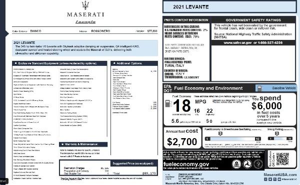 New 2021 Maserati Levante Q4 for sale Call for price at Alfa Romeo of Westport in Westport CT 06880 27