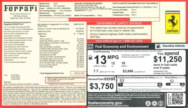 Used 2020 Ferrari 812 Superfast for sale Call for price at Alfa Romeo of Westport in Westport CT 06880 20