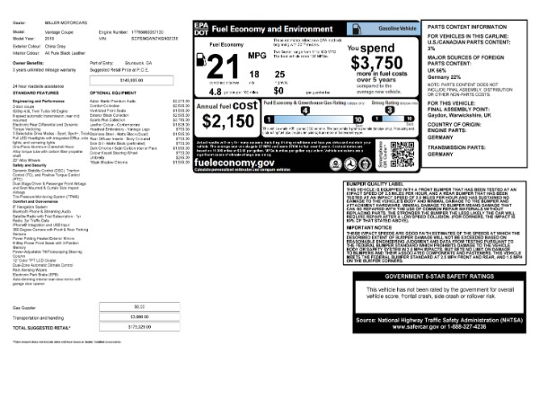 Used 2019 Aston Martin Vantage Coupe for sale $129,900 at Alfa Romeo of Westport in Westport CT 06880 23