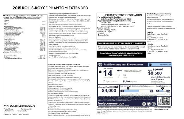 Used 2015 Rolls-Royce Phantom EWB for sale $299,900 at Alfa Romeo of Westport in Westport CT 06880 26