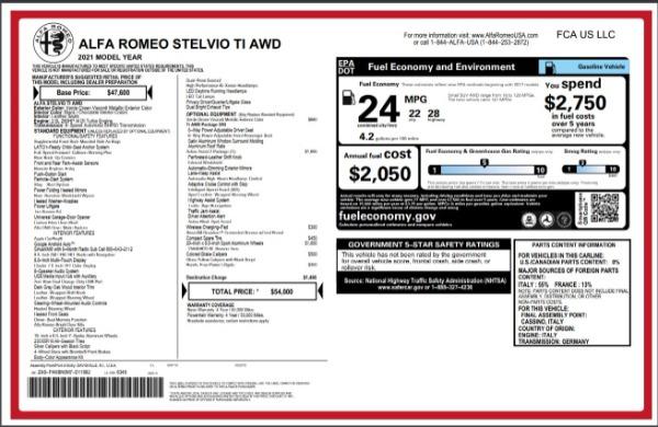 New 2021 Alfa Romeo Stelvio Ti Q4 for sale Sold at Alfa Romeo of Westport in Westport CT 06880 28