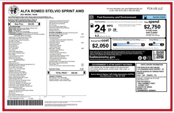 New 2021 Alfa Romeo Stelvio Q4 for sale $49,845 at Alfa Romeo of Westport in Westport CT 06880 2