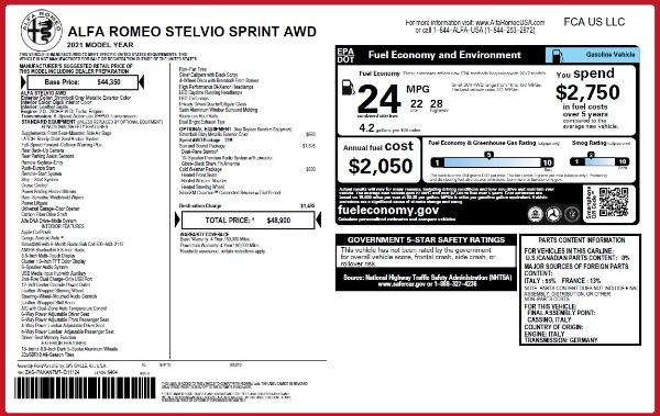 New 2021 Alfa Romeo Stelvio Q4 for sale $48,300 at Alfa Romeo of Westport in Westport CT 06880 2