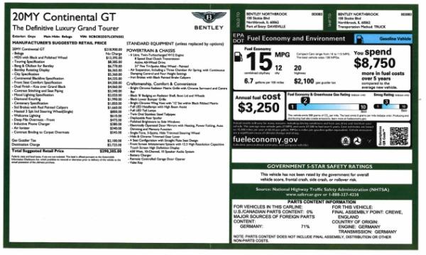 Used 2020 Bentley Continental GT W12 for sale $299,900 at Alfa Romeo of Westport in Westport CT 06880 28