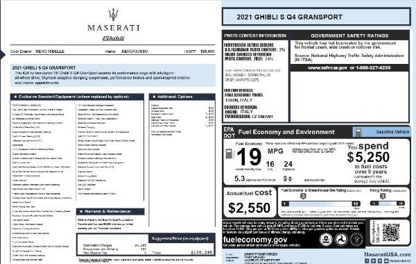New 2021 Maserati Ghibli S Q4 GranSport for sale Sold at Alfa Romeo of Westport in Westport CT 06880 28