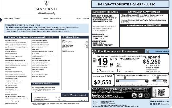 New 2021 Maserati Quattroporte S Q4 GranLusso for sale $122,435 at Alfa Romeo of Westport in Westport CT 06880 27