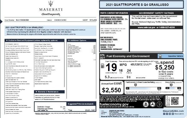 New 2021 Maserati Quattroporte S Q4 GranLusso for sale $123,549 at Alfa Romeo of Westport in Westport CT 06880 25
