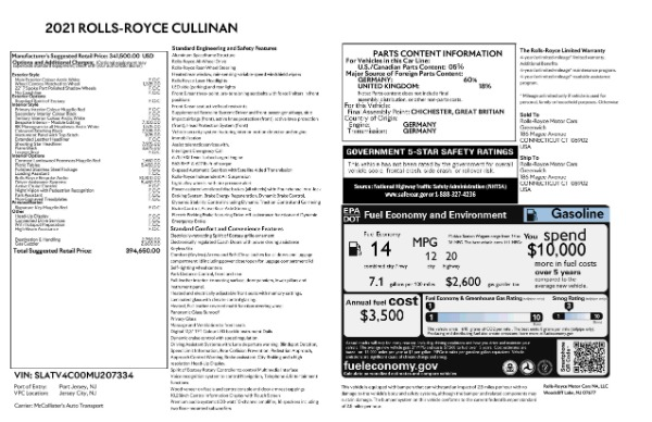 New 2021 Rolls-Royce Cullinan for sale Call for price at Alfa Romeo of Westport in Westport CT 06880 6