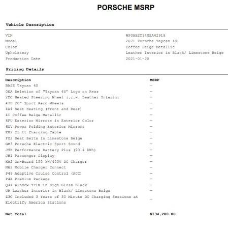 Used 2021 Porsche Taycan 4S for sale $125,900 at Alfa Romeo of Westport in Westport CT 06880 26