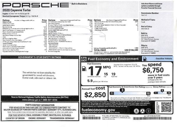 Used 2020 Porsche Cayenne Turbo for sale $145,900 at Alfa Romeo of Westport in Westport CT 06880 28