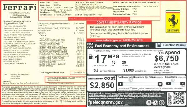 Used 2020 Ferrari 488 Pista for sale Call for price at Alfa Romeo of Westport in Westport CT 06880 20