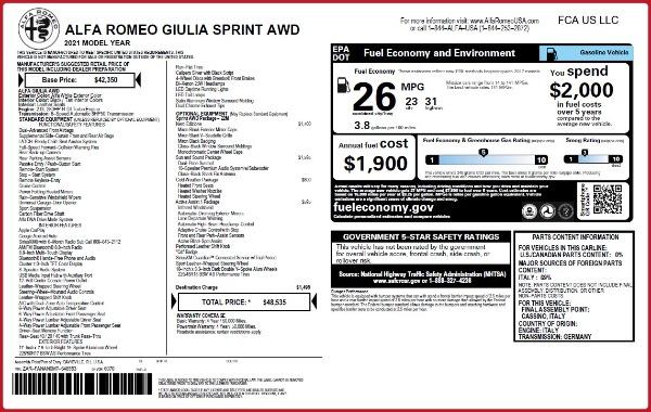 New 2021 Alfa Romeo Giulia Q4 for sale Sold at Alfa Romeo of Westport in Westport CT 06880 28