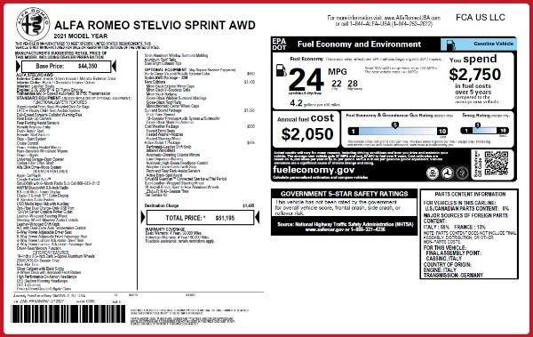 New 2021 Alfa Romeo Stelvio Q4 for sale $51,195 at Alfa Romeo of Westport in Westport CT 06880 2