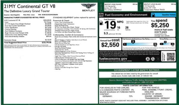 Used 2021 Bentley Continental GT V8 for sale Sold at Alfa Romeo of Westport in Westport CT 06880 27