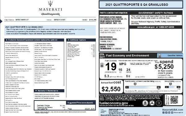 New 2021 Maserati Quattroporte S Q4 GranLusso for sale $129,135 at Alfa Romeo of Westport in Westport CT 06880 27