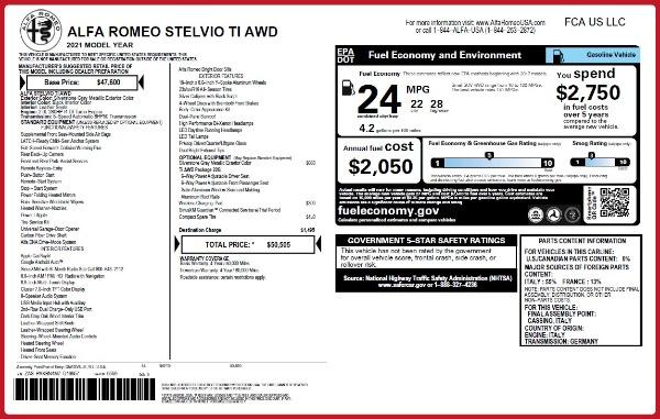 New 2021 Alfa Romeo Stelvio Ti Q4 for sale Sold at Alfa Romeo of Westport in Westport CT 06880 20
