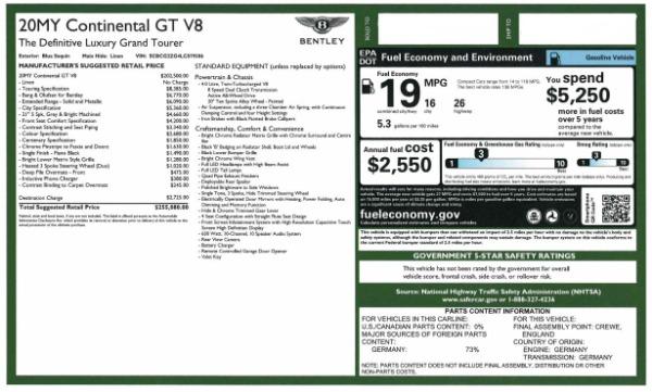 Used 2020 Bentley Continental GT V8 for sale $249,900 at Alfa Romeo of Westport in Westport CT 06880 28