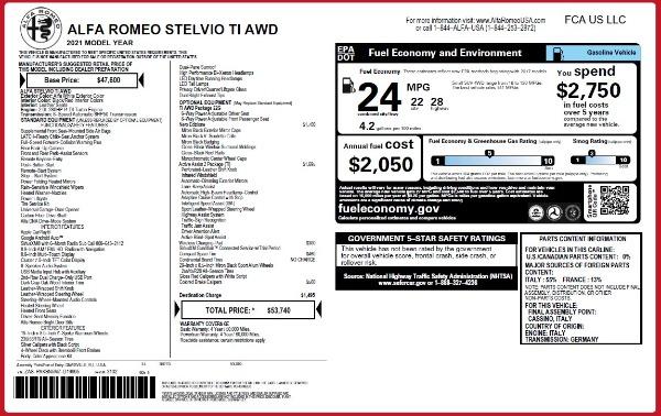 New 2021 Alfa Romeo Stelvio Ti Q4 for sale $53,740 at Alfa Romeo of Westport in Westport CT 06880 24