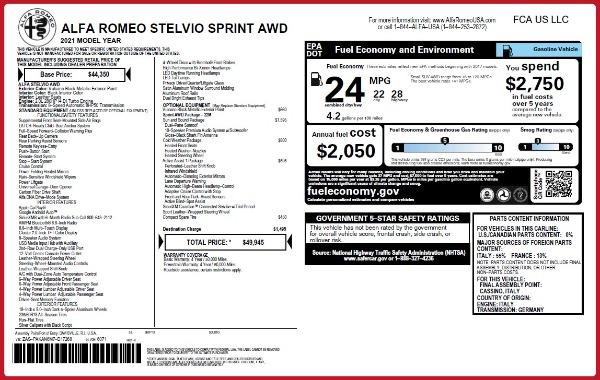 New 2021 Alfa Romeo Stelvio Q4 for sale Sold at Alfa Romeo of Westport in Westport CT 06880 2