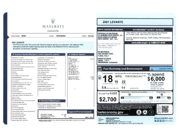 New 2021 Maserati Levante for sale Sold at Alfa Romeo of Westport in Westport CT 06880 2