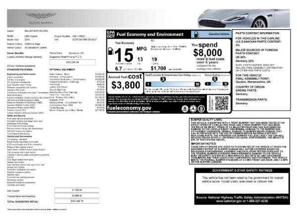 Used 2015 Aston Martin DB9 Volante for sale $119,990 at Alfa Romeo of Westport in Westport CT 06880 7