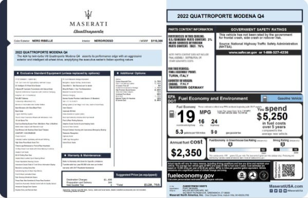 New 2022 Maserati Quattroporte Modena Q4 for sale $128,775 at Alfa Romeo of Westport in Westport CT 06880 23
