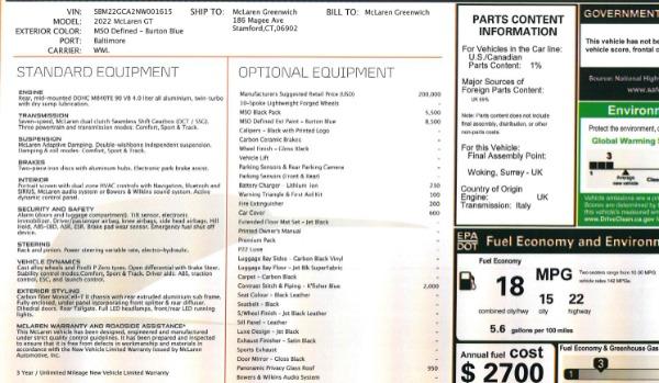 New 2022 McLaren GT Luxe for sale $228,080 at Alfa Romeo of Westport in Westport CT 06880 23