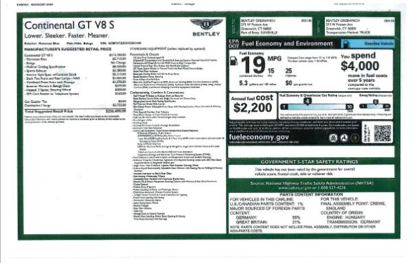 Used 2017 Bentley Continental GT V8 S for sale $145,900 at Alfa Romeo of Westport in Westport CT 06880 27