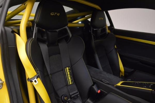 Used 2016 Porsche Cayman GT4 for sale Sold at Alfa Romeo of Westport in Westport CT 06880 18